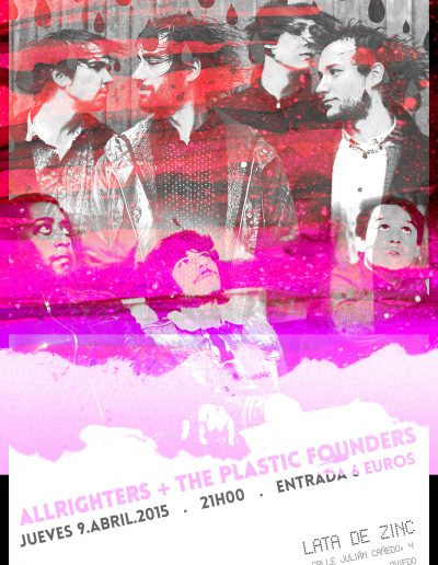 Concierto Allrighters + The Plastic Founders, Lata de Zinc, Oviedo