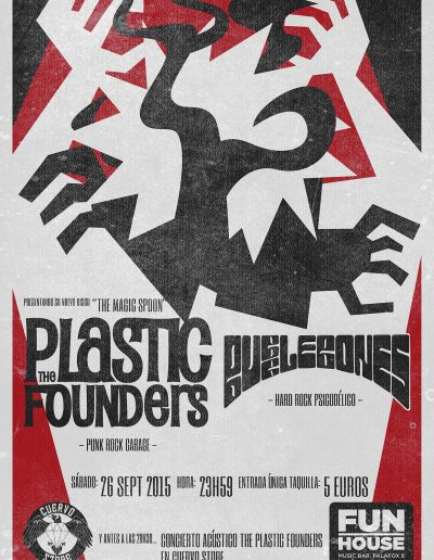 Concierto The Plastic Founders + Bubbles Bones, Fun House, Madrid
